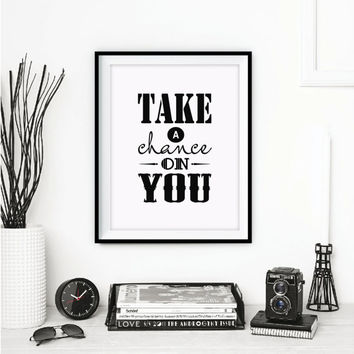 Motivational Wall Decor Inspirational Print Love Yourself Canvas Quote Office Decor Printable Wall Art Gift Idea