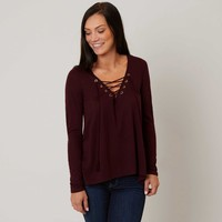 Coco + Jaimeson Lace-Up Top