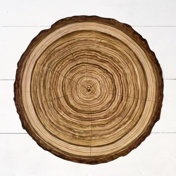 Wood Slice Paper Placemat