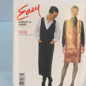 McCall's Stitch N Save sewing pattern 9436 women's jumper in two lenghths size 8 10 12 14