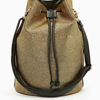 Nasty Gal Gold Sting Bucket Bag