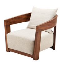 Brown & White Lounge Chair | Eichholtz Rubautelli