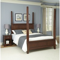 Home Styles 3-piece Chesapeake Nightstands and Poster Bedroom Set (Brown)