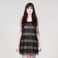 Fringe dress with black lace - ONLINE ONLY