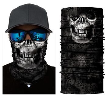 Face Shield Mask - Mean Skull - Bandana Fishing / Hunting / Motorcycle