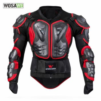 Trendy WOSAWE mens motorcycle jackets windproof womens jackets body armor clothing shoulder back guard support motocross jackets men AT_94_13