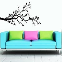 Wall Decal Vinyl Sticker Decals Art Decor Design Bedroom Nursery Branch Birds Love Hearts Kids Bedroom Dorm Home (r1406)