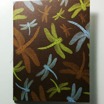 Dragonfly Themed Notebook - Mini, journal, diary, staple bound