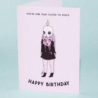 Closer To Death Greeting Card