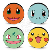 Set of 4 Pokemon Plugs