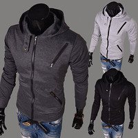 Slim Fit Zip Up Men Hoodie Jacket