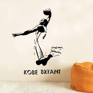 removable sports wall stickers nba basketball player lakers kobe bryant poster wall stickers art home decor decals bedroom y 110  number 3