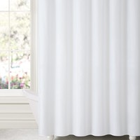 "Royal Bath White Water & Mildew Resistant Fabric Shower Curtain Liner (70"" x 72"") with Suction Cups (for Wall)"
