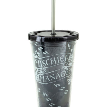 Harry Potter Mischief Managed Glow-In-The-Dark Acrylic Travel Cup