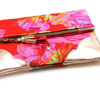 'Rosa Floral' Clutch