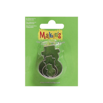 Makin's 3 piece Christmas Winter SNOWMAN COOKIE CUTTERS