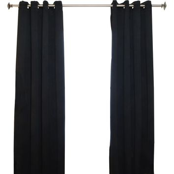 Caples Solid Blackout Thermal Grommet Curtain Panels
