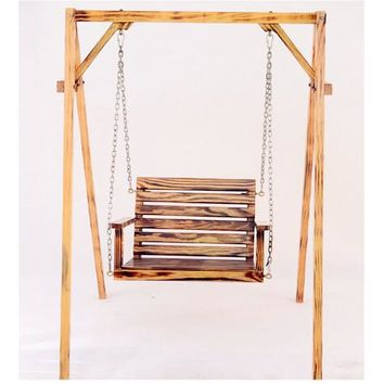 Children adult anti-corrosion wood hanging chair indoor and outdoor balcony rocking chair garden swing chair(not include shelf)