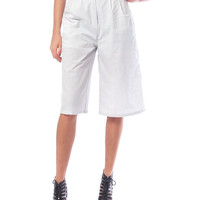 Ruling The Day Pinstripe Culottes Short - White