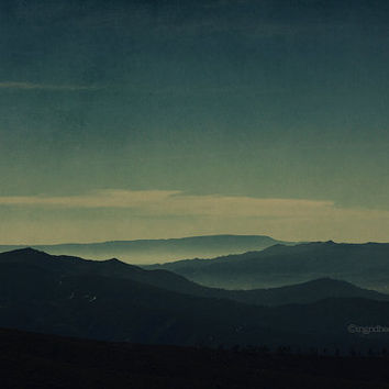 Mountain photography -  landscape photography - fog - mist - Portugal - moody nature photography -  fine art print -  wall art - home decor