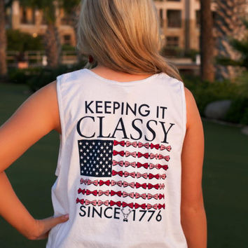 Jadelynn Brooke: Keeping It Classy Tank {White}