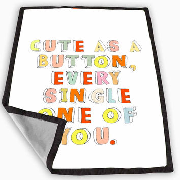 Cute as a Button Marcel One Direction Blanket for Kids Blanket, Fleece Blanket Cute and Awesome Blanket for your bedding, Blanket fleece *