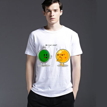 Men's Fashion Short Sleeve Round-neck Cute Slim Tee Casual Lovely Summer Cotton Creative T-shirts = 6451114435