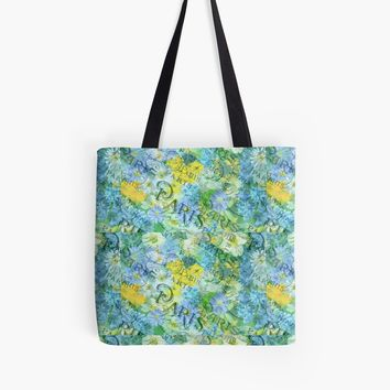 'Vintage Shabby Chic Bright Paris Floral Design ' Tote Bag by ThatsMyStyle