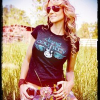 Dang Country burnout tee by Dang Chicks