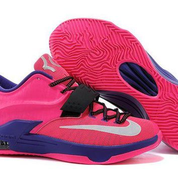 DCCKIJ2 Nike Men's Durant Zoom KD 7 Basketball Shoes Pink
