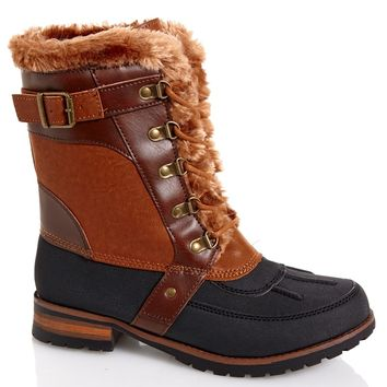 Womens Lace-Up Duck Snow Boots 545492437