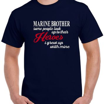 Marine Brother T shirt | Military Brother | Our T Shirt Shack
