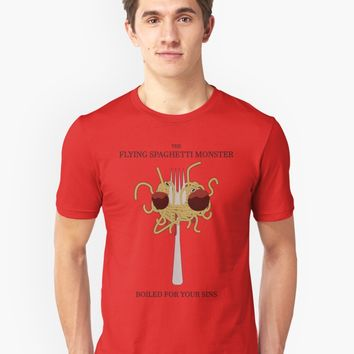 'Flying Spaghetti Monster's Crucifixion' T-Shirt by FlyNebula