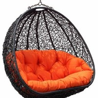 Belina - Synthetic Wicker Porch Swing Chair - Great Hammocks - Model - Y9037gn