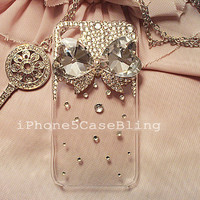 iPhone 4 Case, iPhone 4s case, iPhone 5 Case, Bling iPhone 4 case, iPhone 5 bling case, Clear iPhone 4 case, iPhone 5 case bow, iphone5 case