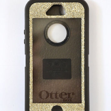 Otterbox Case iPhone 5 Glitter Cute Sparkly Bling Defender Series Custom Case Silver/Black