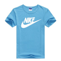 """Nike"" Men Simple Casual Classic Letter Print Round Neck Short Sleeve Cotton T-shirt"