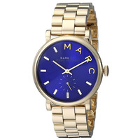 Marc by Marc Jacobs MBM3343 Women's Baker Navy Blue Dial Yellow Gold Steel Bracelet Watch