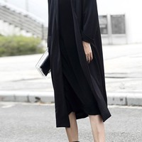Oversized Duster Jacket | Black