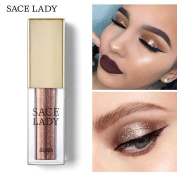 SACE LADY Liquid Eyeshadow Makeup Metals Glitter Shadow Shimmer Eye Shadow Illuminator Make Up Glow Kit Highlighter Cream