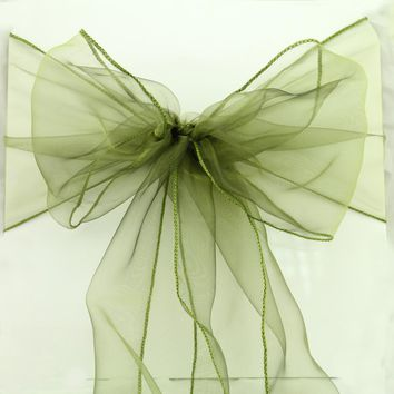 100 pcs/lot 30colors option Wedding Organza Chair Cover Sashes Sash Party wedding decoration Bow ,factory direct best quality