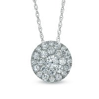 1/2 CT. T.W. Diamond Carnation Cluster Pendant in 10K White Gold - View All Necklaces - Zales