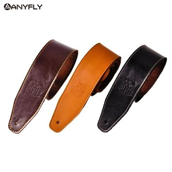 2018 Genuine Cow Leather Cowhide Soft Durable Guitar Strap Acoustic Electric Guitar Strap Bass Strap Adjustable Guitar Belt