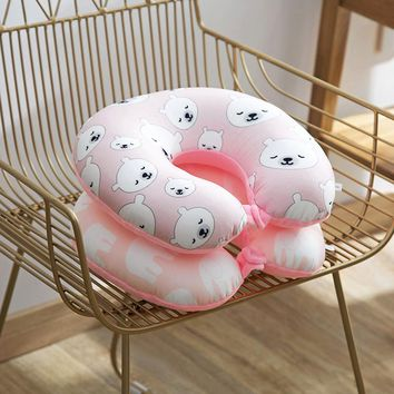 Multi-Color Cartoon U Shaped Neck Pillow Comfortable travel pillow For Car Office Airplane Travel Accessories Drop shipping65623