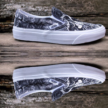 Monochrome Black & White Custom Vans