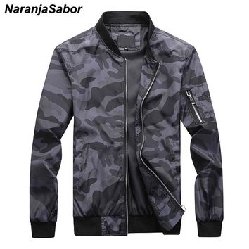 Trendy NaranjaSabor 7XL New Men's Camouflage Bomber Zipper Jackets Male Slim Fit Pilot Coats Camo Outwear Plus Size Men Brand Clothing AT_94_13