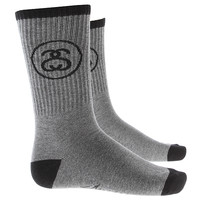 Stussy Ss Link Socks - Grey Heather at Urban Industry