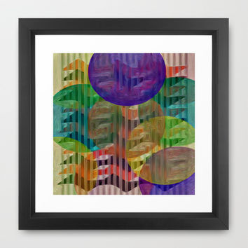 COLOR DASH Framed Art Print by Robleedesigns