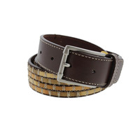 Tommy Bahama Mens Leather Textured Casual Belt