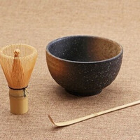 tea ceremony 3pcs sets matcha bowl bamboo scoop matcha whisk teaware